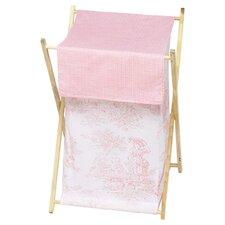 Pink Toile Laundry Hamper