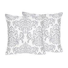 Elizabeth Damask Cotton Throw Pillow (Set of 2)