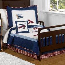 Vintage Aviator 5 Pieces Toddler Bedding Set