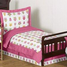 Happy Owl 5 Piece Toddler Bedding Set