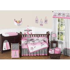 Paris 9 Piece Crib Bedding Set
