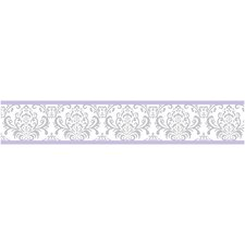 "Elizabeth 15' x 6"" Damask Border Wallpaper"