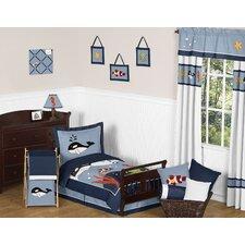 Ocean Blue 5 Piece Toddler Bedding Set
