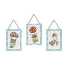 3 Piece Balloon Buddies Hanging Art Set