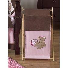 Teddy Bear Pink Laundry Hamper