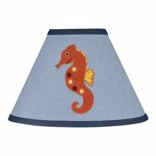 """10"""" Ocean Blue Cotton Empire Lamp Shade"""