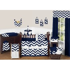 Chevron 9 Piece Crib Bedding Set