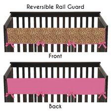 Cheetah Girl Long Crib Rail Guard Cover