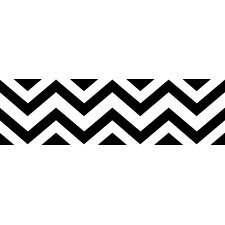 "Chevron 15' x 6"" Chevron Border Wallpaper"
