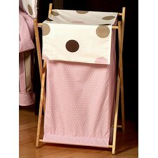 Mod Dots Pink Laundry Hamper