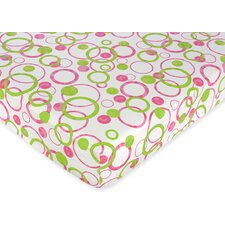 Circles Pink Fitted Crib Sheet