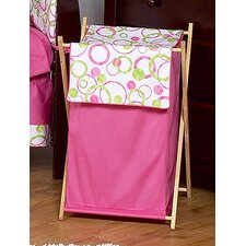 Circles Pink Laundry Hamper