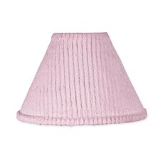 "10"" Chenille Pink Empire Lamp Shade"