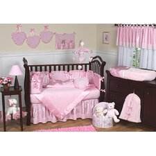 Chenille Pink 9 Piece Crib Bedding Set