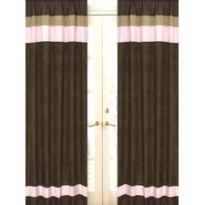 Soho Pink and Brown Curtain Panels (Set of 2)