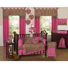Cheetah Pink 9 Piece Crib Bedding Set