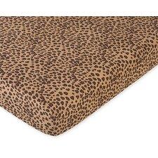 Cheetah Pink Fitted Crib Sheet