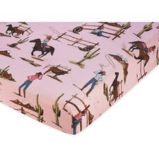 Cowgirl Fitted Crib Sheet