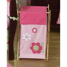 Flower Pink and Green Laundry Hamper