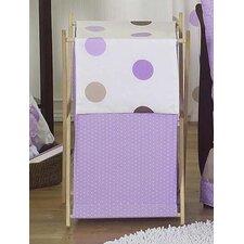 Mod Dots Purple Laundry Hamper