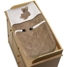 Teddy Bear Chocolate Collection Changing Pad Cover