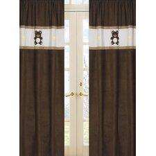 Teddy Bear Pink Curtain Panels (Set of 2)