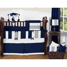 Stripe 9 Piece Crib Bedding Set