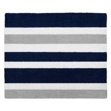 Stripe Hand-Tufted Navy Blue / Gray Area Rug