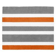 Stripe Hand-Tufted Gray / Orange Area Rug