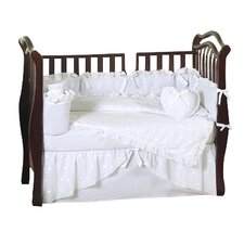 Eyelet 9 Piece Crib Bedding Set