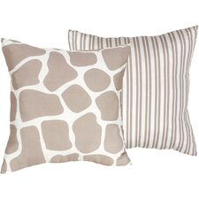 Giraffe Cotton Throw Pillow