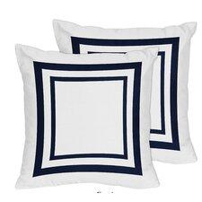 Anchors Away Decorative Accent Cotton Throw Pillow