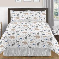 Woodland Animals 3 Piece Full/Queen Comforter Set