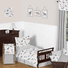 Woodland Animals 5 Piece Toddler Bedding Set