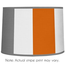 "10"" Stripe Microfiber Drum Lamp Shade"