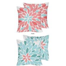 Emma Decorative Accent Microfiber Throw Pillow (Set of 2)