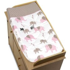 Elephant Pink Collection Changing Pad Cover