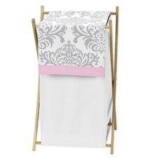 Pink and Gray Elizabeth Laundry Hamper