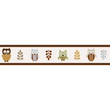 "Night Owl 15' x 6"" Wildlife Border Wallpaper"