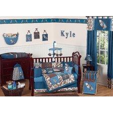 Surf Blue 9 Piece Crib Bedding Set