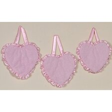 3 Piece Chenille Pink Collection Wall Hanging Set