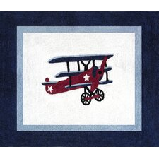 Vintage Aviator Blue/White Outdoor Area Rug