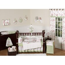 Riley's Roses 9 Piece Crib Bedding Set