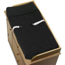 Minky Dot Black Collection Changing Pad Cover