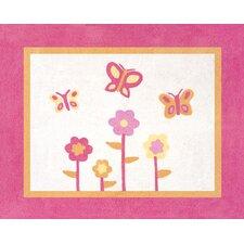 Butterfly Floor Pink/Orange Area Rug