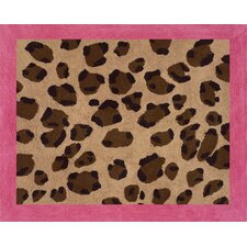 Cheetah Pink Area Rug