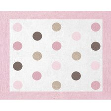 Mod Dots Pink Collection Floor Rug