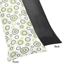 Lime and Black Spirodot Body Pillowcase