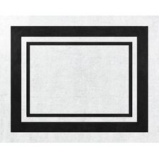 Hotel White/Black Floor Area Rug