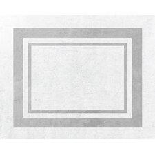 Hotel White/Gray Floor Area Rug